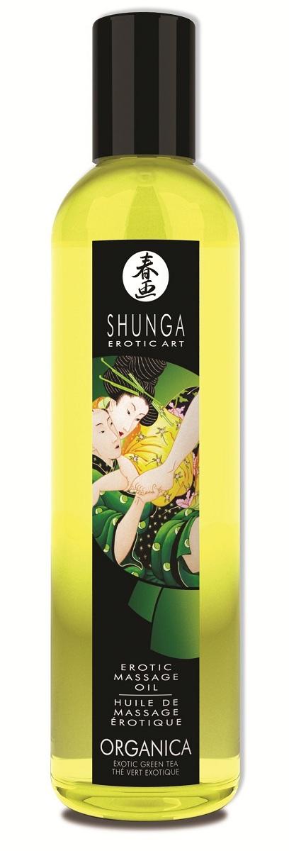 Массажное масло Organica с ароматом зеленого чая - 250 мл.