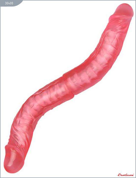 Розовый фаллоимитатор с хребтом - 36 см.